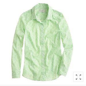 J. Crew Liberty perfect shirt in glenjade green 8